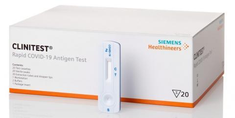 Schachtel des Corona Selbsttests der Firma Siemens